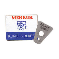 Merkur blades for moustache and eyebrow razor - 10 pcs