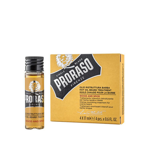 Proraso – hot oil for beard (4 x 17 ml)